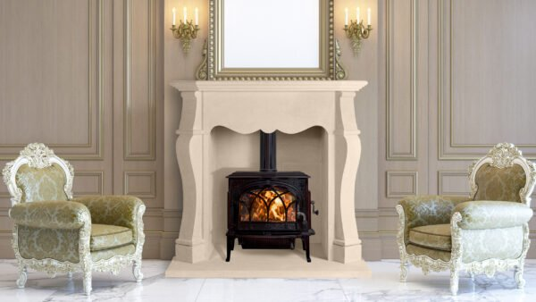 A classic regency interior with wood paneling, by art frames and armchairs near the fireplace, Stone Fireplaces, Hand carved fireplaces, bespoke fireplace, Period fireplace, French fireplace, Sandridge Stone Fireplaces, Limestone, Bath Stone, Portland Limestone, Melksham, Wiltshire