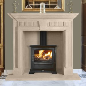 Interior of a living room with fireplace in luxury villa, Carved fireplace,Sandridge Stone Fireplaces, Limestone, Bath Stone, Portland Limestone, Melksham, Wiltshire