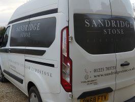 Company work van, Stone Fireplaces, Hand carved fireplaces, bespoke fireplace, Period fireplace, French fireplace, Sandridge Stone Fireplaces, Limestone, Bath Stone, Portland Limestone, Melksham, Wiltshire